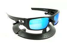 OAKLEY CRANKSHAFT POLISHED BLACK FRAME / REVANT ICE BLUE POLARIZED CUSTOM LENSES