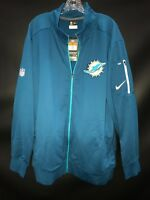 MIAMI DOLPHINS TEAM ISSUED BLUE ZIP NIKE DRI-FIT PLAYER TRAVEL JACKET NEW W/TAGS