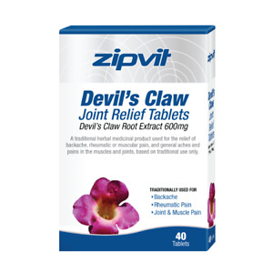 Devils Claw 600mg Extract - Joint Back Muscular Relief, Pack of 40 Tablets, B...