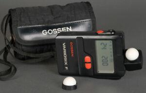 Good Excellent Gossen Variosix F Light Lite  Meter Luna Star Flash + Warranty!