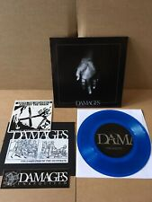 "Damages ‎– Unrequited 7"" BLUE VINYL REACT! Records Hardcore"