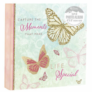 """Capture Moments Make Life Special Photo Album 200 Photographs Slip In 4 x 6"""""""
