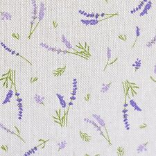 Lavendel Dekostoff Leinenoptik kleingemustert ab 0,50 Meter