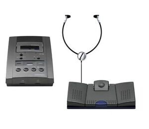 Grundig Stenocassette RECORDER ST3220T desktop transcription system complete kit