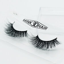 Soft Design 3D 100% Real Mink False Eyelashes Cross Messy Eye Lashes 1 Pairs