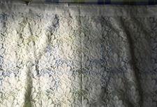 Brilliant White Floral  net curtains.