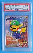 2016 Pokemon Japanese XY Promo #296 F.A./LUIGI PIKACHU Holo Special Box PSA-10