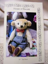 "11""  Antique Mohair Teddy Bear PATTERN"