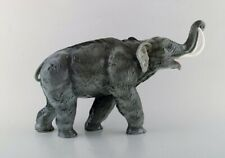 Large Rosenthal mammoth / elephant in hand painted porcelain. 1930's.