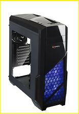 ATX Mid Tower Computer Gaming PC Case for PC with Side Window Panel & 3 Fans Pre