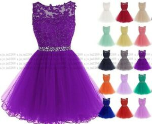 New Short Bridesmaid Formal Gown Ball Party Evening Prom Dress Stock Size 6-24