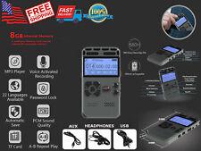 Hidden Voice Activated Recorder Spy Digital Audio Recording Device 8GB Metal