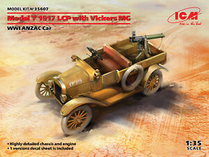 ICM 35607 - 1/35 -  Model T 1917 LCP with Vickers MG scale plastic model kit