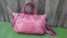 LIEBESKIND BERLIN Pink Leather Womens Cross-Body Tote Purse Shoulder Bag