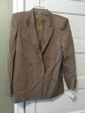 NWT TAHARI Beige light wool Jacket Blazer long Sleeve 12 Pretty $188