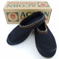 Acorn Slippers Slipperwear Blue Hut Scuffs Navy Size W 7.5-8.5 M 6-7 blue unisex