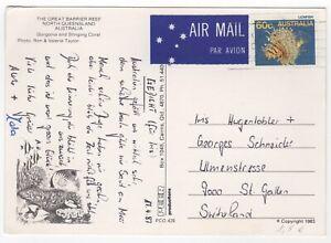 1987 Apr 17th. Picture Post Card. Queensland to St. Gallen, Switzerland.