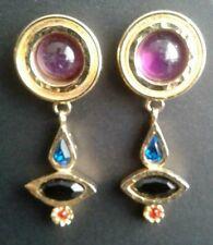 EARRINGS PATRICIA  LOCKE Earring Gold and Stones Vintage Art Deco Inspired