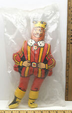 """Vintage Burger King Promotional Plush Stuffed 13"""" Rag Doll 1970's Made In USA"""