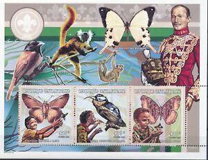 [G390862] Centrafrica 1998 scout butterflies good very fine MNH sheet X3