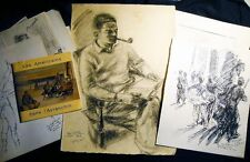 1937 -1981 COLLECTION CLAUDE REMUSAT ART PORTRAITS DRAWINGS + PHOTOS & CATALOG