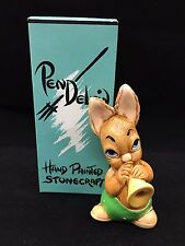 "Pendelfin ""Phumf Green"" Rabbit Playing Trumpet Nib!"