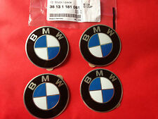 4X GENUINE BMW E30 E36 E46 E34 E39 E38 E32 Wheels Center Cap Emblems stickers