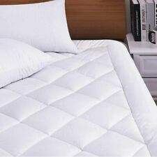 Pillow Top King Size Mattress Topper Hypoallergenic Cooling Soft Cover Pad Bed