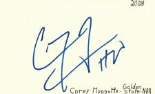 Cory Maggette Golden State Warriors NBA Basketball Autographed Signed Index Card