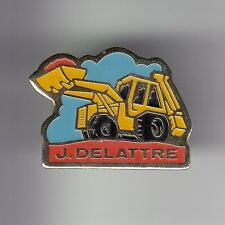 RARE PINS PIN'S .. AGRICULTURE TRACTEUR TRACTOR BTP PELLETEUSE J. DELATTRE ~DD
