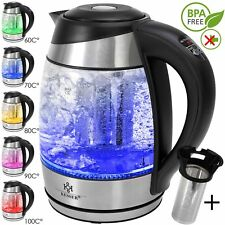 KESSER® 1,8L Edelstahl Wasserkocher 2200W Glaswasserkocher Warmhaltefunktion NEU