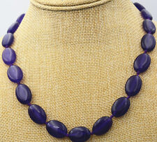"necklace knot 18 "" Aaa 13x18mm New natural Amethyst oval gemstone"