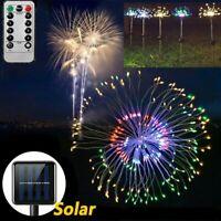 Solar/Battery Fireworks LED Fairy String Lights Starburst Xmas Light lawn Lamp