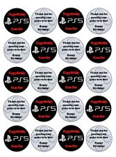 Personalised 20 x PS5 CupCake Toppers