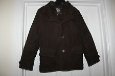 Boys Brown Next Coat Size 8 Years Lined Jacket Smart Casual