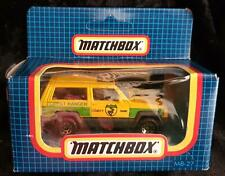 MATCHBOX MB 27 JEEP CHEROKEE YELLOW & GREEN FOREST RANGER - NEW in OPENED BOX
