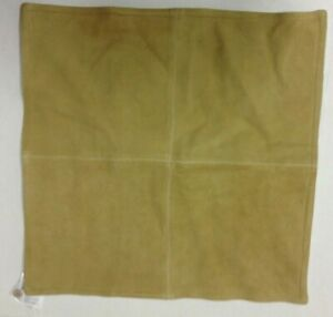 Pottery Barn Pieced Suede Leather bed throw chair sofa pillow cover 20x20 Golden