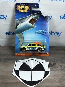 Matchbox Discovery Shark Week Toyota Tacoma Lifeguard Pickup Truck Yellow