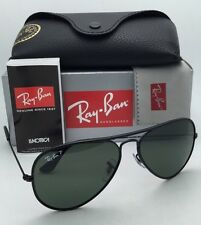 RAY-BAN Sunglasses Aviator Full Color RB 3025-J-M 002/58 Black w/Polarized Green