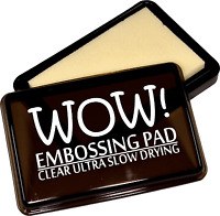 Wow Clear Embossing Stamp Pad Ultra Slow Drying Raised Use With Powders WV02