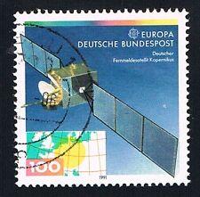 GERMANIA 1 FRANCOBOLLO EUROPA CEPT SPAZIO KOPERNIKUS 1991 usato