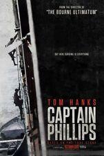 CAPTAIN PHILLIPS - 2013 - original D/S 27x40 ADVANCE movie poster - TOM HANKS