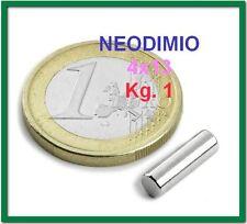 5 Pezzi NEODIMIO CILINDRO 4x13 mm. 1 kg N42 MAGNETI CALAMITA MAGNETE Fortissimo