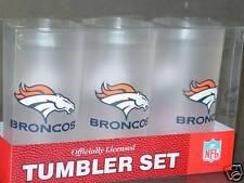 NFL Denver Broncos 19 Ounce Plastic Tumblers (3 Pack)