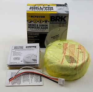 BRK First Alert Wired Photoelectric Smoke & Carbon Monoxide Alarm   AC Powered