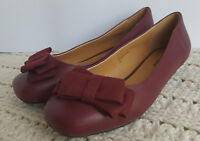 Womens Shoes Bowie Burgundy Comfortview Pumps Bow Slip-On