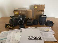 Nikon D7000 Camera Bundle 2 Lenses 50mm 1.8D + 18-105mm Low Shutter Count. Boxed