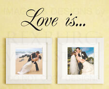 Wall Decal Art Vinyl Quote Sticker Lettering Mural Love Is Family Pictures L32