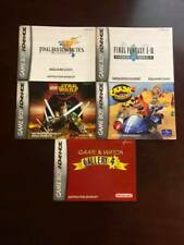 Lot of 5 GameBoy Advance Manual's - Final Fantasy + Crash Bandicoot ++