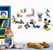 Mickey Minnie Mouse Wall Sticker Removable PVC Mural Decals Kids Bedroom Decor